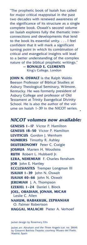 The Book of Isaiah 40-66: New International Commentary on the Old Testament [NICOT]