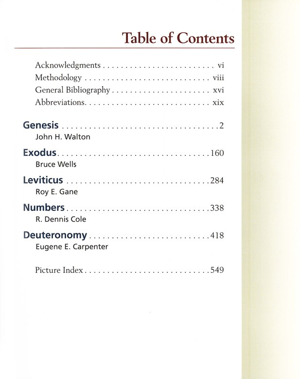 Zondervan Illustrated Bible Backgrounds Commentary, Vol. 1 Genesis, Exodus, Leviticus, Numbers, and Deuteronomy