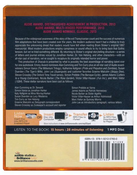 Dracula - unabridged audiobook on MP3-CD