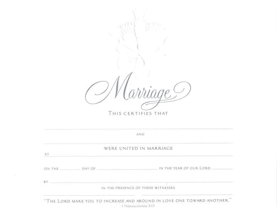 Embossed Marriage Certificates, 6