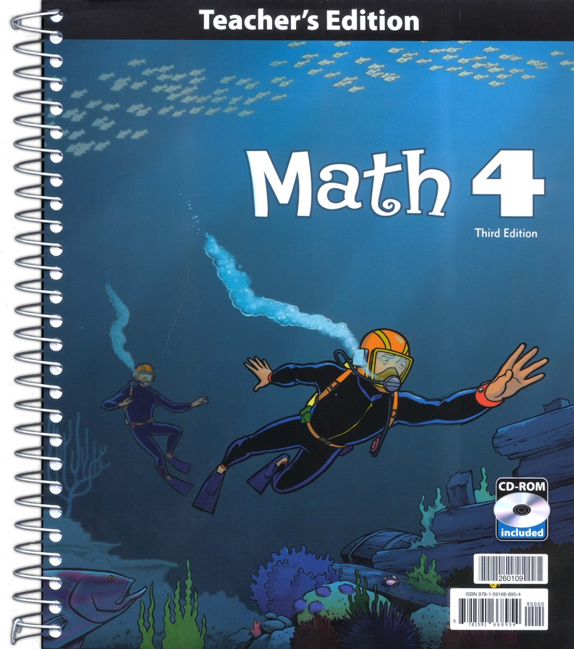 BJU Math Grade 4 Teacher's Edition with CD-ROM, 3rd Edition