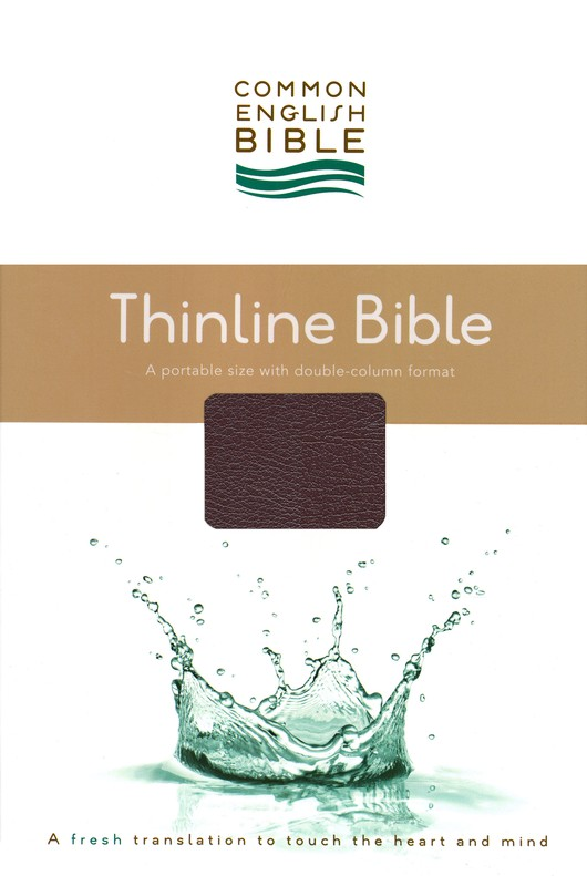 CEB Common English Bible, Thinline Edition - Burgundy EcoLeather (bonded leather)