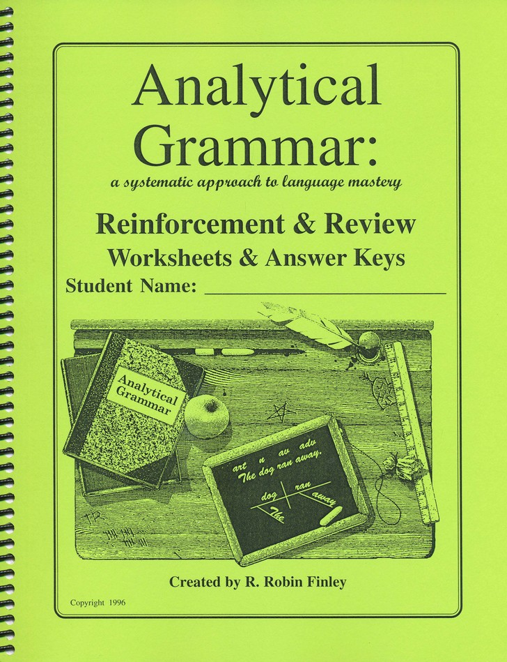 Analytical Grammar Reinforcement Review Worksheets Answer Keys