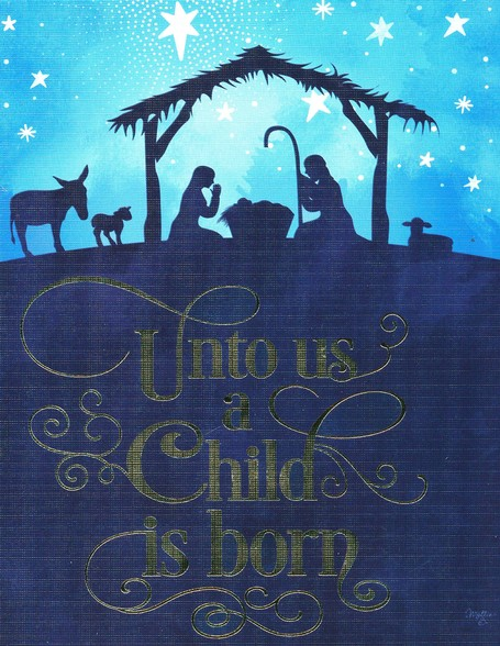 Christian Christmas Cards.Christmas Cards Unto Us A Child Is Born Silhouette Box Of 12