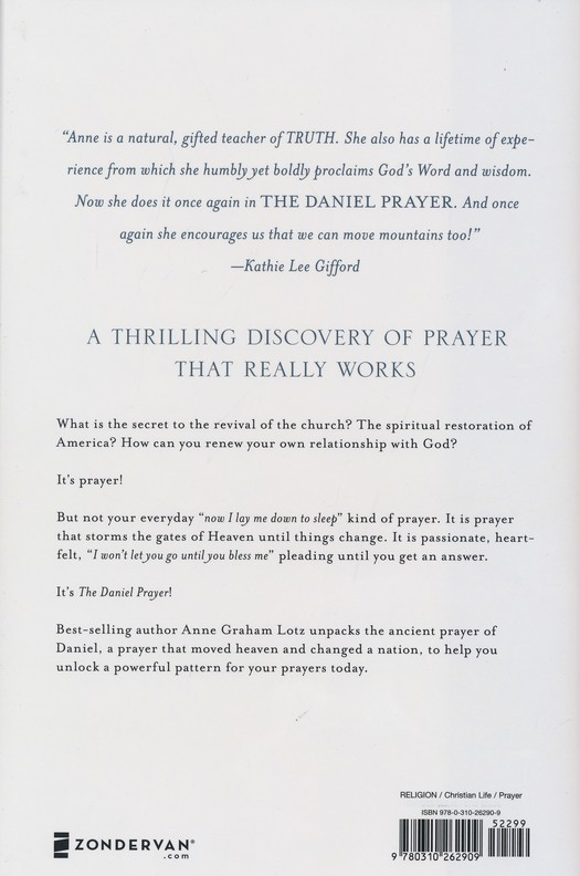 The daniel prayer prayer that moves heaven and changes nations the daniel prayer prayer that moves heaven and changes nations anne graham lotz 9780310262909 christianbook fandeluxe Image collections