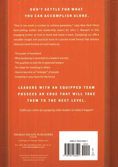 Equipping 101, Hardcover What Every Leader Needs to Know