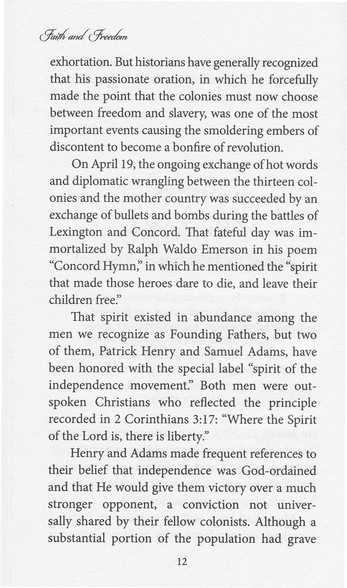Faith & Freedom: The Founding Fathers in Their Own Words