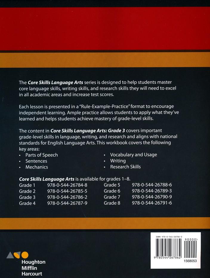 Steck Vaughn Core Skills Language Arts Workbook Grade 3