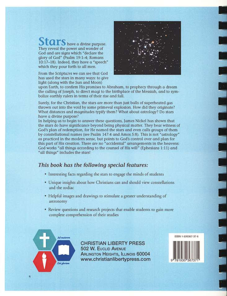 Lift Up Your Eyes on High: Understanding the Stars, Grades 9-12