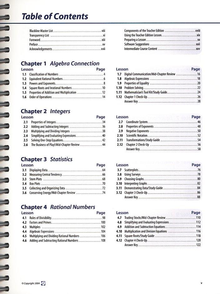 ACSI Mathematics Intermediate Course B Teacher Edition Jr  High