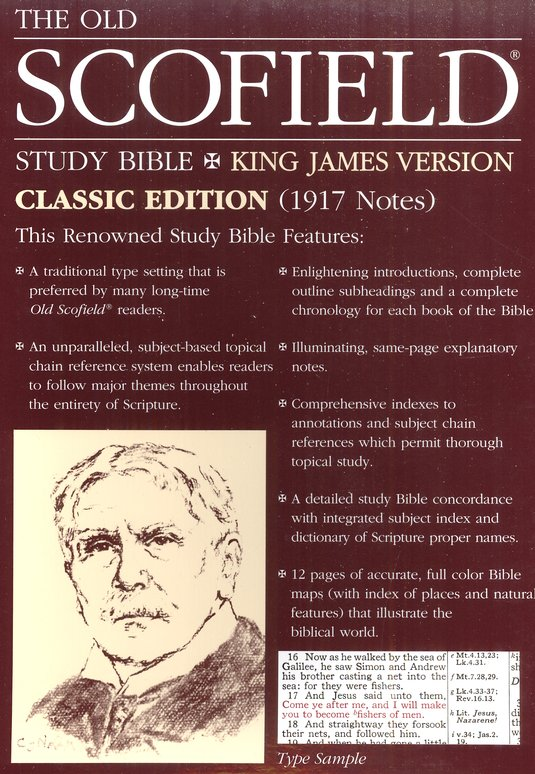 Old Scofield Study Bible Classic Edition, KJV, Bonded Leather burgundy Thumb-Indexed