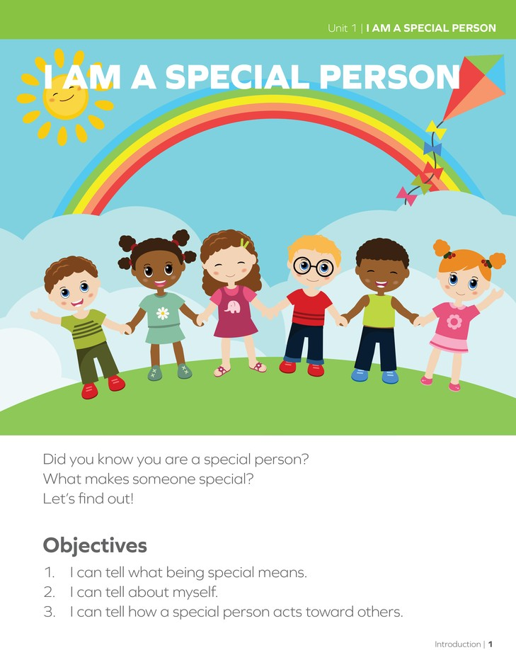 Lifepac History & Geography Grade 1 Unit 1: I Am A Special Person