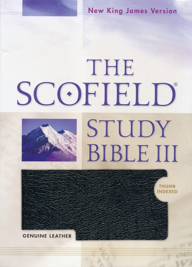 NKJV Scofield Study Bible, Reader's Edition, Genuine leather,   Black Thumb-Indexed