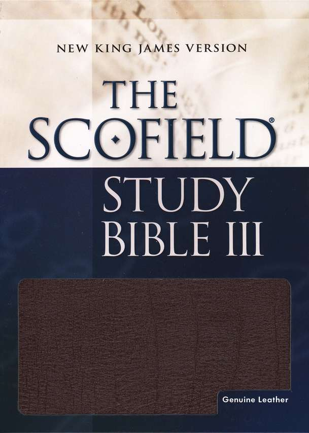 NKJV Scofield Study Bible, Reader's Edition, Genuine leather, Burgundy--Indexed