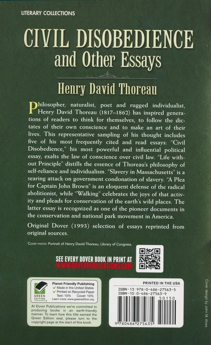 Civil Disobedience And Other Essays Henry David Thoreau  Civil Disobedience And Other Essays Henry David Thoreau    Christianbookcom Argument Essay Thesis also Examples Of Good Essays In English  Essays And Term Papers