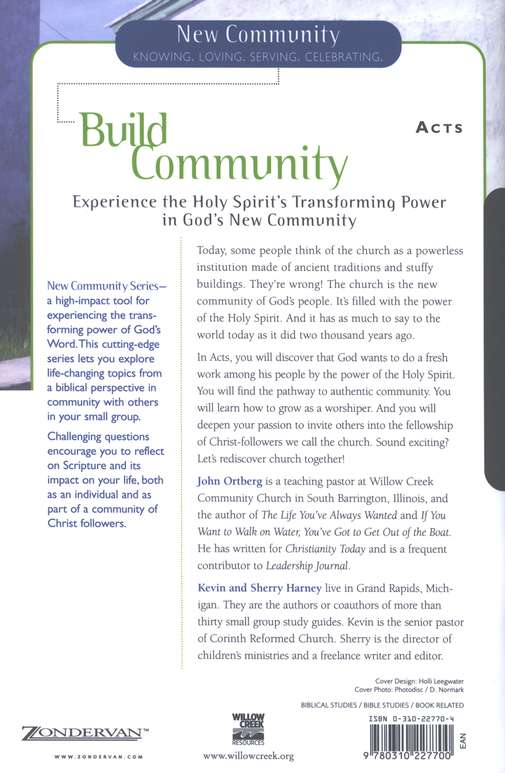Acts: Build Community--New Community Bible Study Guides