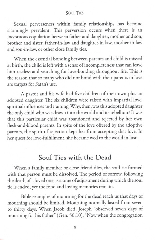 what does the bible say about soul ties