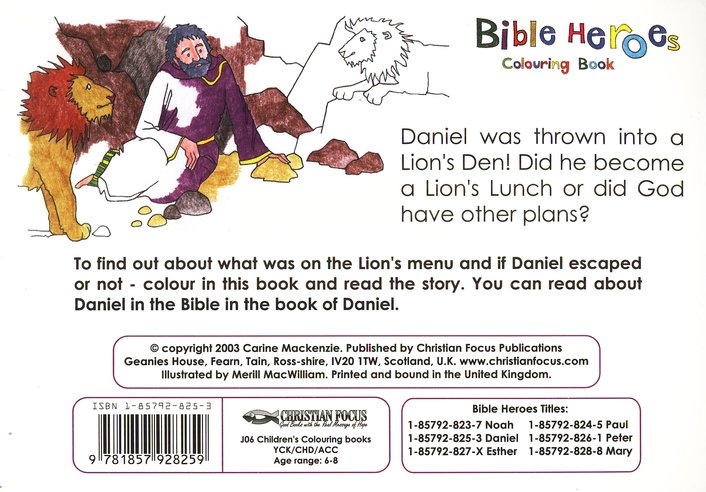 Daniel Colouring Book