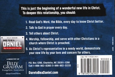Dare to Be A Daniel-Steps to Peace with God (25 Pack)