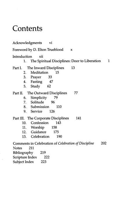 Celebration of Discipline: The Path to Spiritual Growth, 20th Anniversary Edition