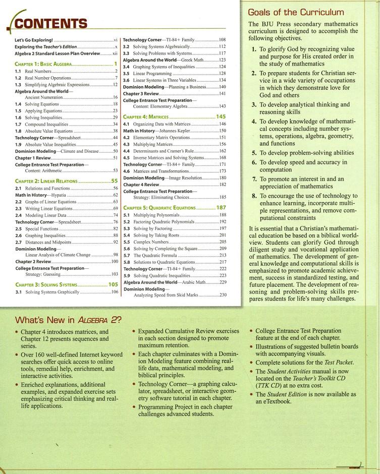 Algebra 2 Teacher's Edition with CD-ROM (3rd Edition)
