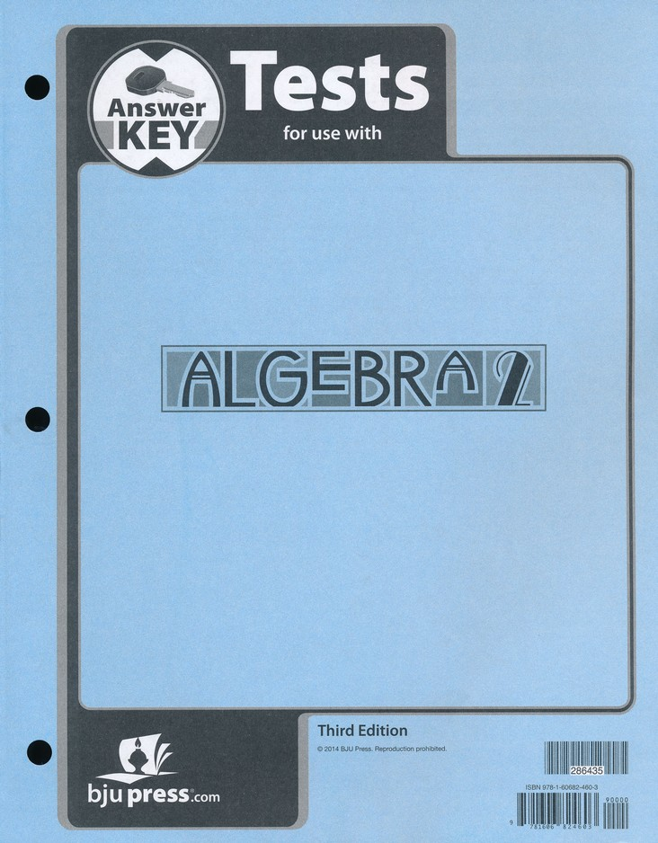 Algebra 2 Tests Answer Key (3rd Edition)