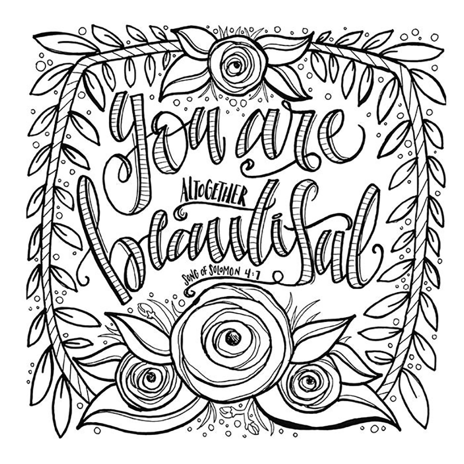 Everything Beautiful: A Coloring Book for Reflection and Inspiration ...