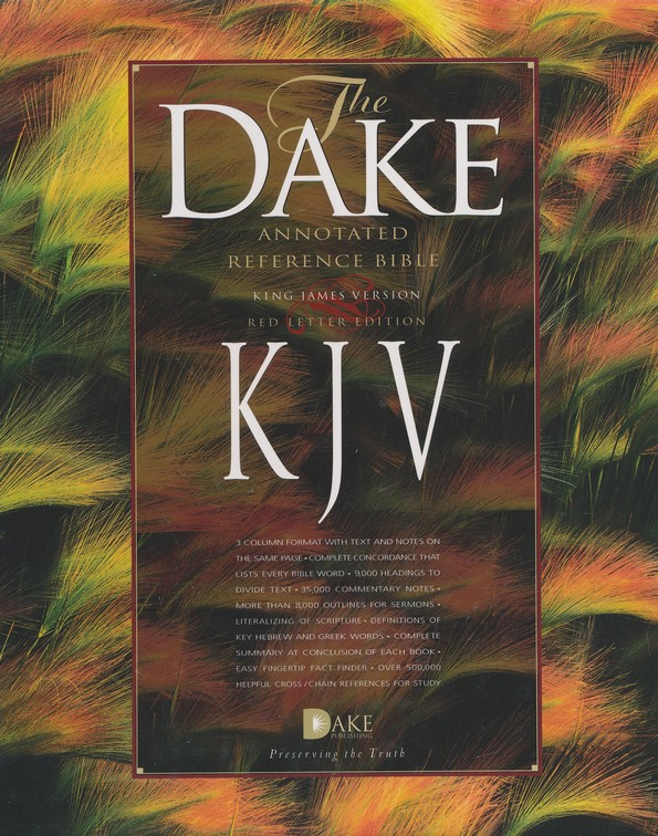 KJV Dake Annotated Reference Bible (large note edition) - bonded leather,  black
