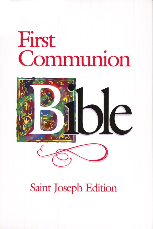 St. Joseph  First Communion Bible Flexible Cover (girl)