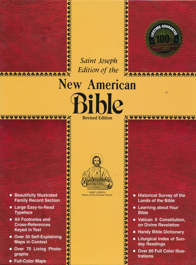 NABRE St. Joseph Deluxe Gift Edition Bible, Bonded leather, Black, Full Size
