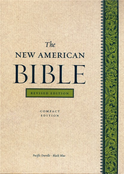 The New American Bible, Compact, Bonded Leather,     Black/Blue Pacific, Revised Edition