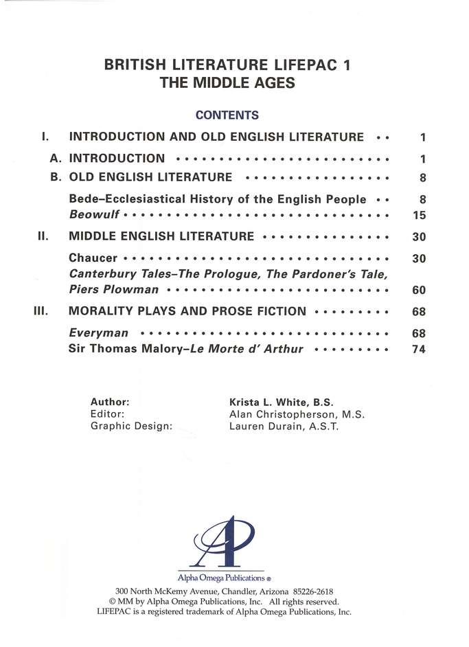 dark ages in english literature