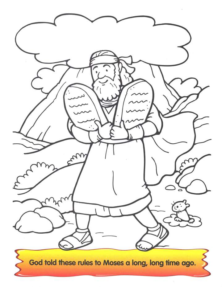 God's Ten Best: The Ten Commandments Coloring Book