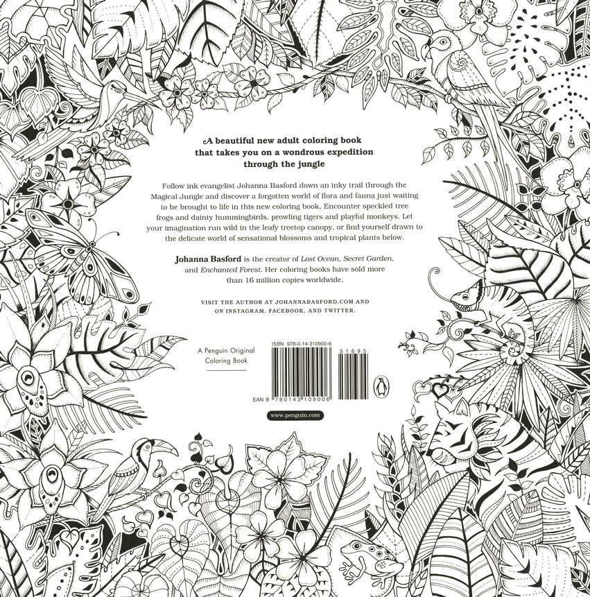 Magical Jungle: An Inky Expedition And Coloring Book For Adults: Johanna  Basford: 9780143109006 - Christianbook.com