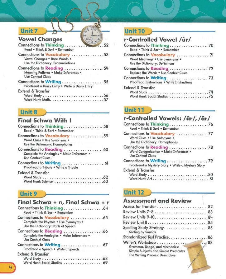 Zaner-Bloser Spelling Connections Grade 5: Student & Teacher Editions  (Homeschool Bundle)