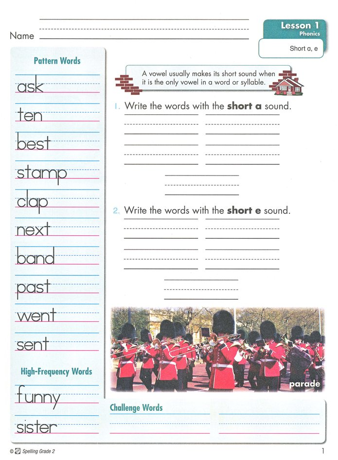 Spelling Grade 2 Student Edition Revised