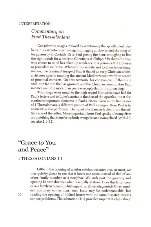 1st & 2nd Thessalonians, Interpretation Commentary