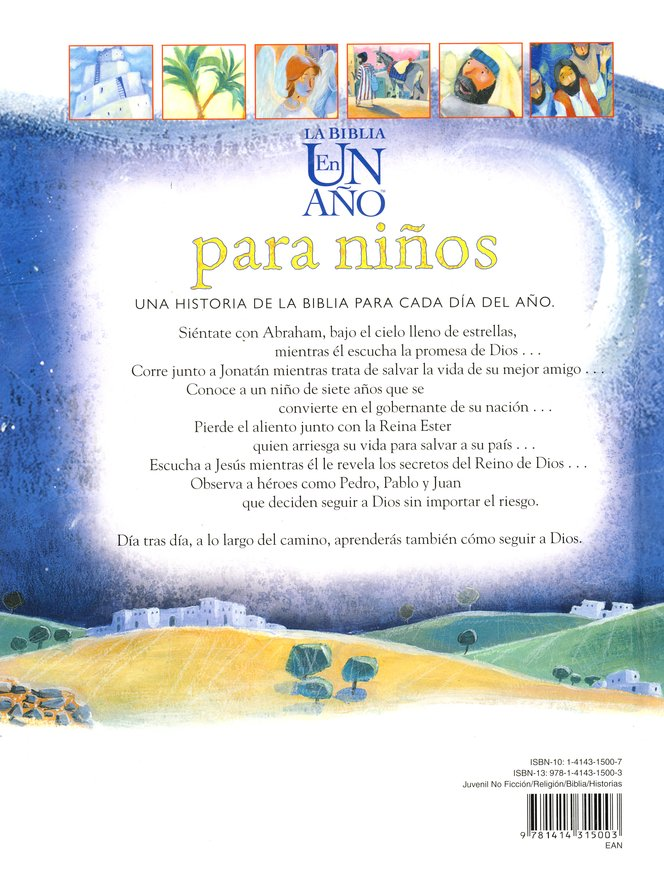 La Biblia en un A&#241o para Ni&#241os  (The One Year Children's Bible)
