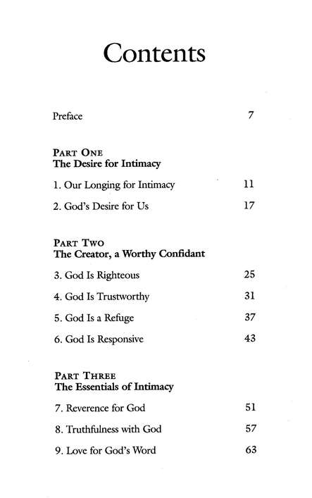Intimacy With God: A Bible Study in the Psalms