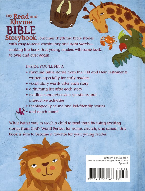 My Read and Rhyme Bible Storybook: 37 Rhyming Bible Stories