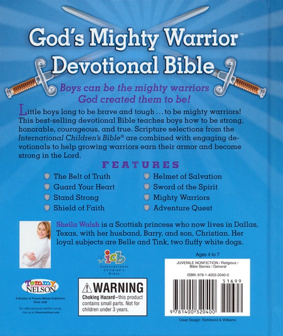 ICB God's Mighty Warrior Devotional Bible, hardcover