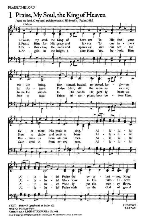The Celebration Hymnal, Gray
