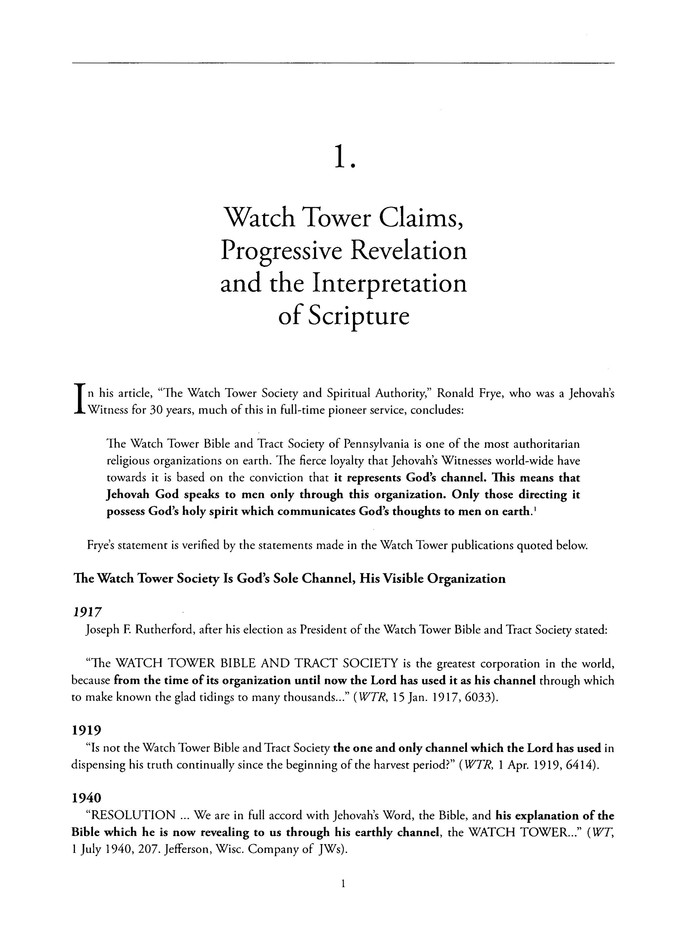 Jehovah's Witnesses: Their Claims, Doctrinal Changes,