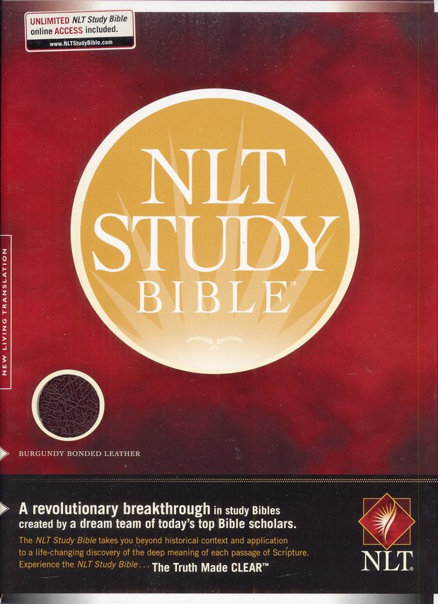 NLT Study Bible, Bonded Leather--Burgundy