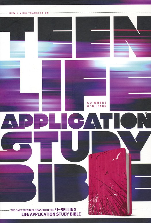 NLT Teen Life Application Study Bible, TuTone Pink Fields Imitation Leather