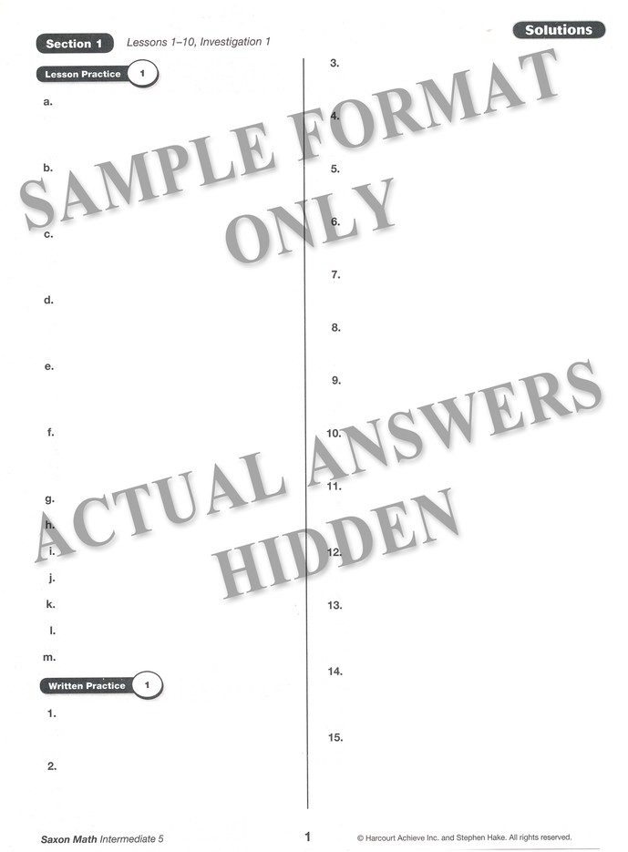 Saxon math intermediate 5 solutions manual 9781600325557 saxon math intermediate 5 solutions manual 9781600325557 christianbook fandeluxe Images