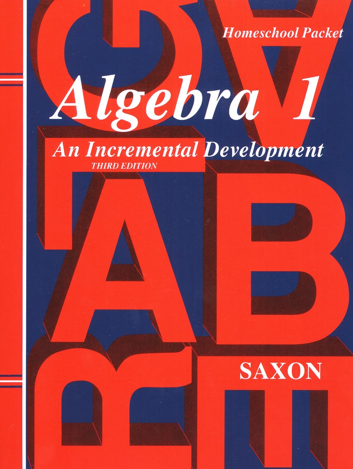 Saxon Algebra 1 Homeschool Kit with Solutions Manual, 3rd Edition