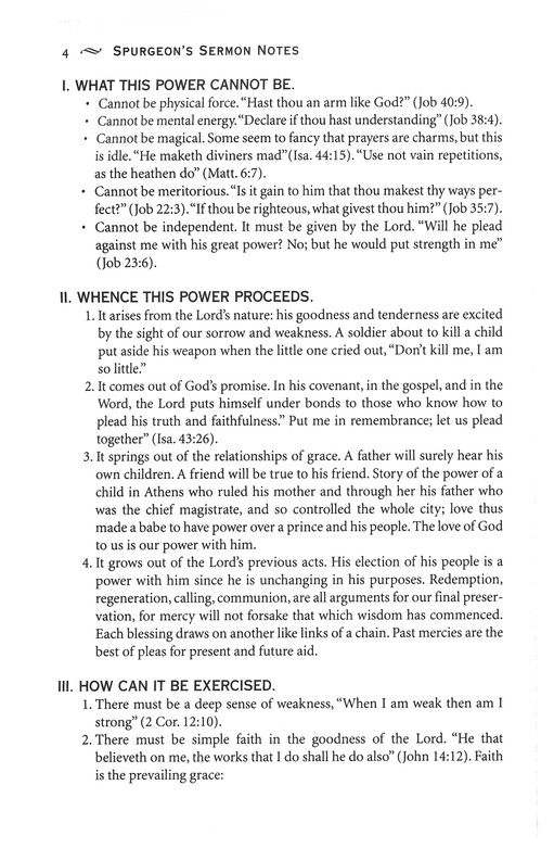 Spurgeon's Sermon Notes One Volume