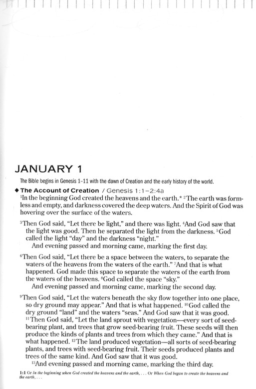 NLT One Year Chronological Bible, Large Print Hardcover