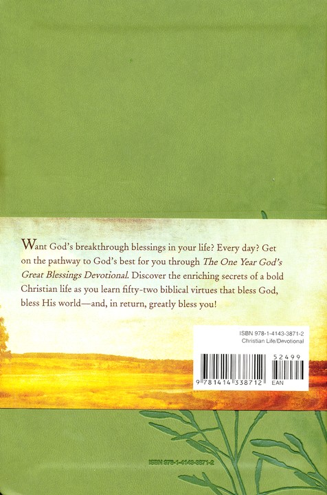 The One Year God's Great Blessings Devotional, Leatherlike